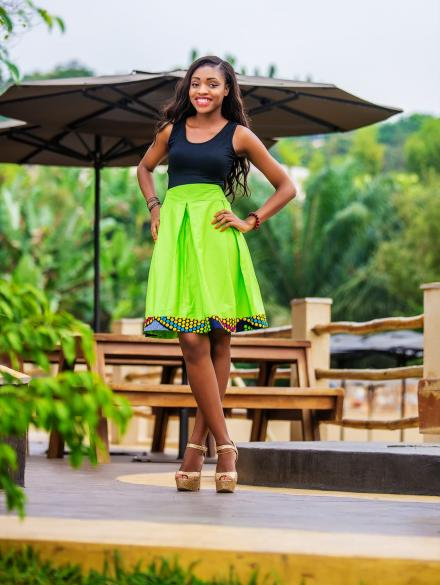 Peduase Lemon Green Skirt