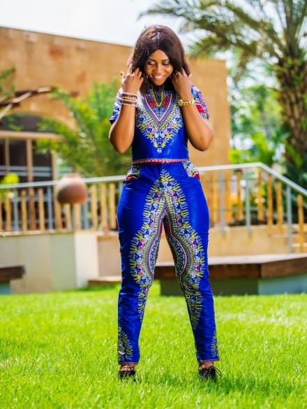Blue Dashiki Top and Bottom