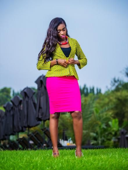 Pink Skirt and Yellow Top