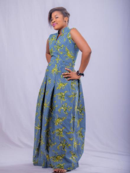 The grey maxi dress