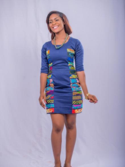 Sapphire Blue Short Dress