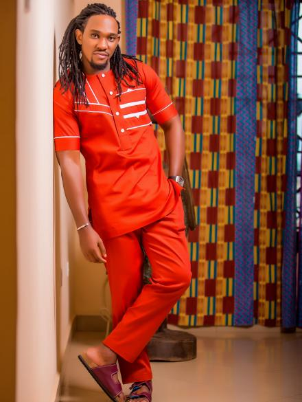 Orange short sleeve slim fit top and trouser