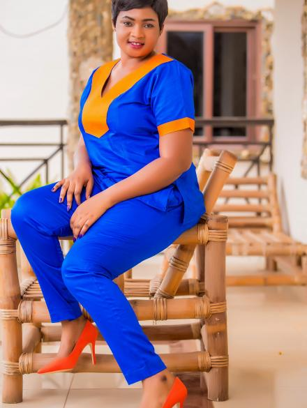 Blue and Orange Super Sleek top and down