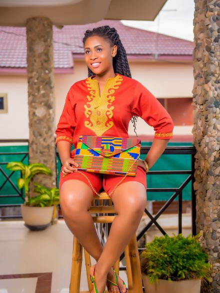 Akua Adepa Embroidered top and bottom