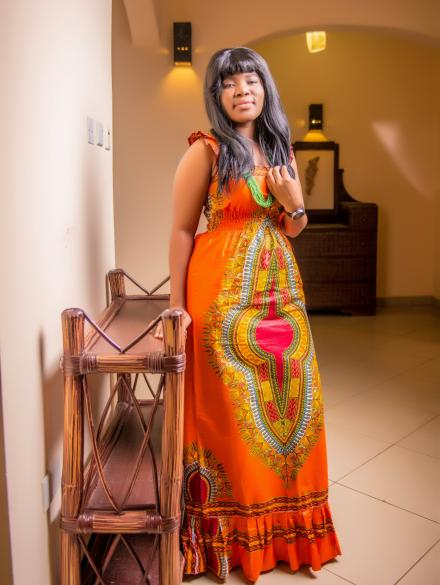 Pencil type Dashiki straight dress
