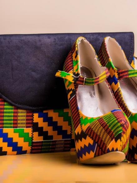 Kente Dinner Purse and Shoe
