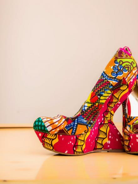 Akromaa High Hill Shoe and purse