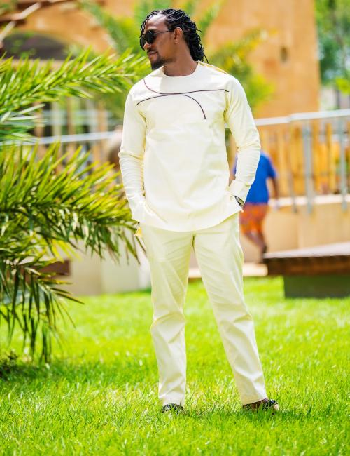 Sempe Creamy Slim Fit Top and Bottom
