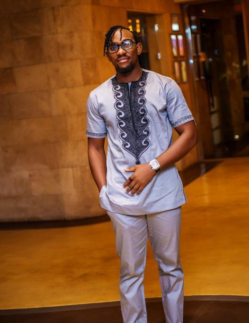 Ahenfo Grey Short Sleeve Top and Bottom