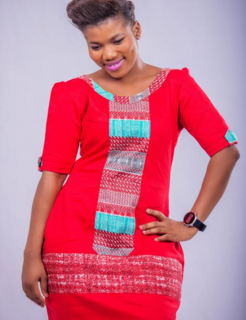 Red Cotton and Woodin short dress