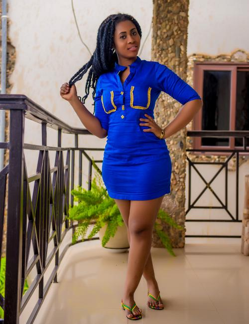 Fitted Royal  Blue Dress