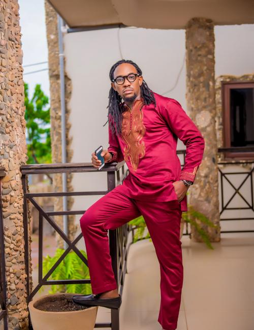 Kofi Amengor Embroidered Slim Fit Top and Trouser