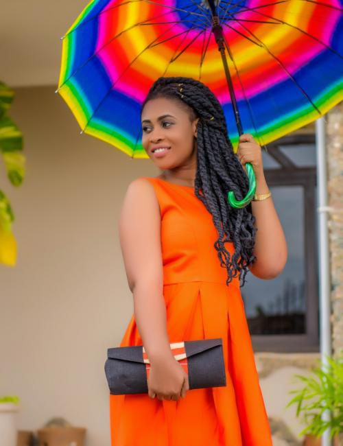 Open Back Sleeveless Orange Dress