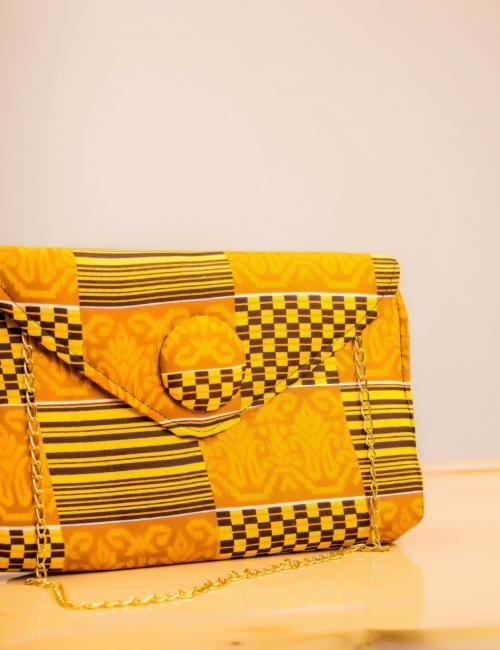 Gold Designed Ladies Big Purse