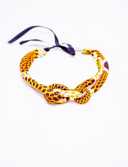 Yellow and White Nsubura Necklace