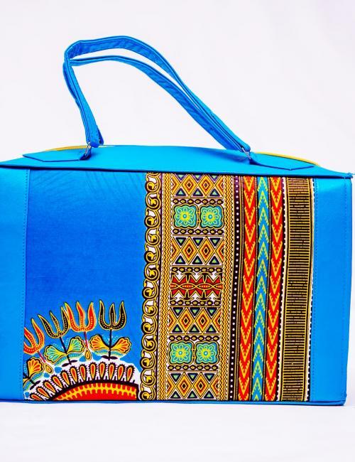 Blue Dashiki Ladies Handbag