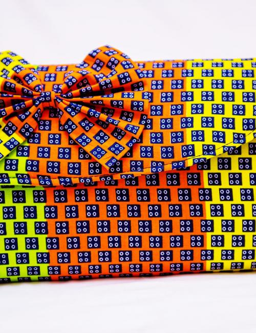 Orange and Yellow Clutch bag