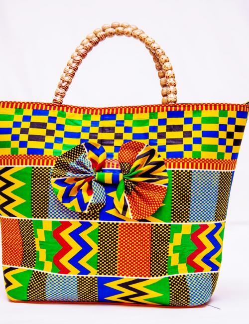 Lom Nava Kente Handbag
