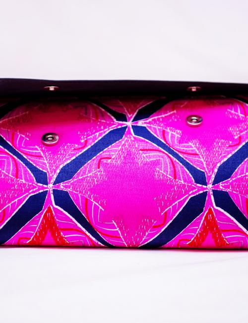 Black and Pink Clutch Bag